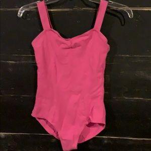 Pink dance leotard